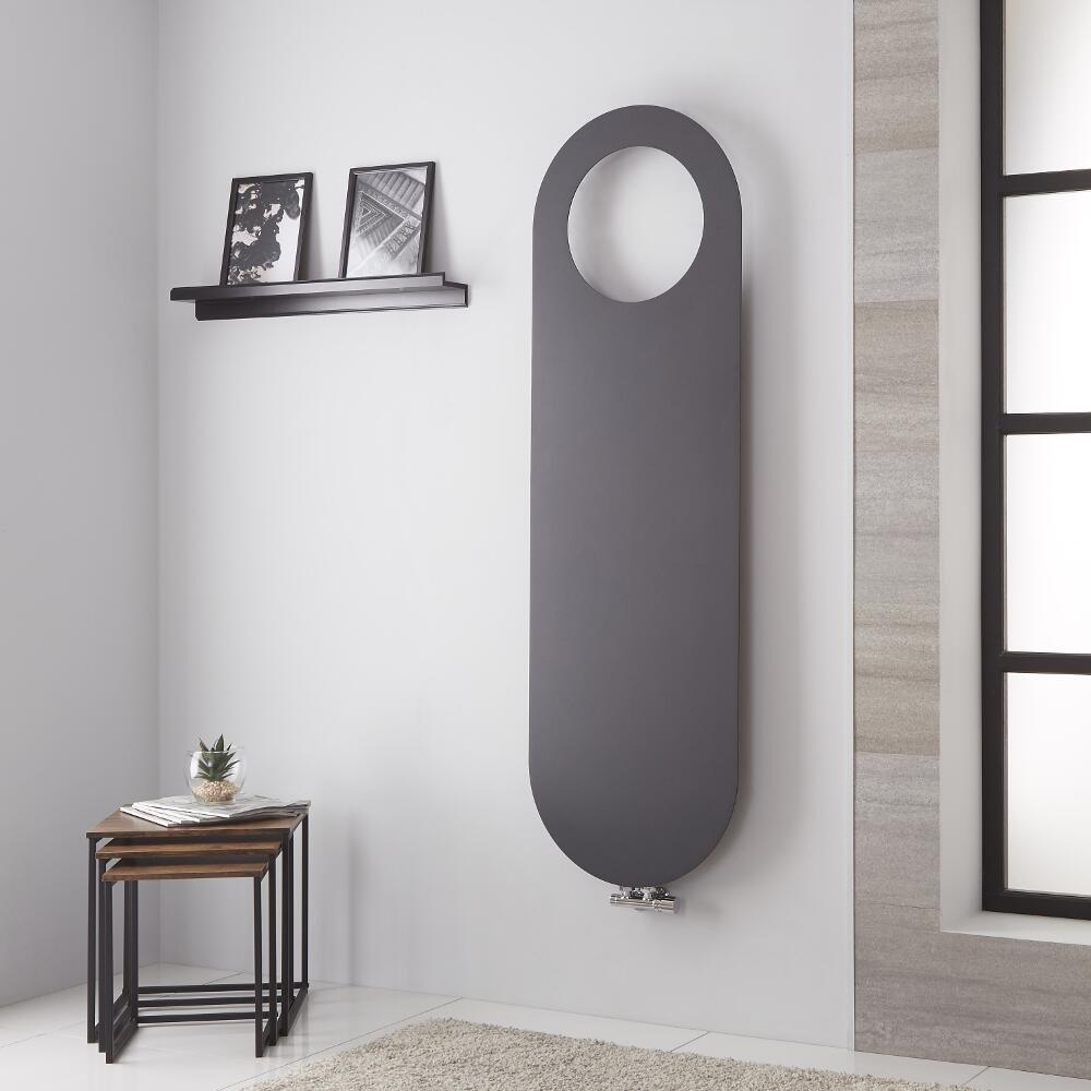 Lazzarini Way - Vulcano - Anthracite Vertical Designer Radiator - 1595mm x 490mm
