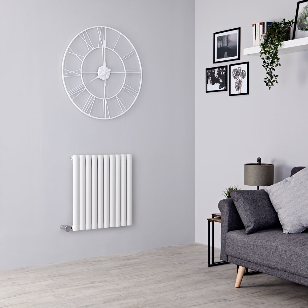 Milano Aruba Electric - White Horizontal Designer Radiator 635mm x 595mm