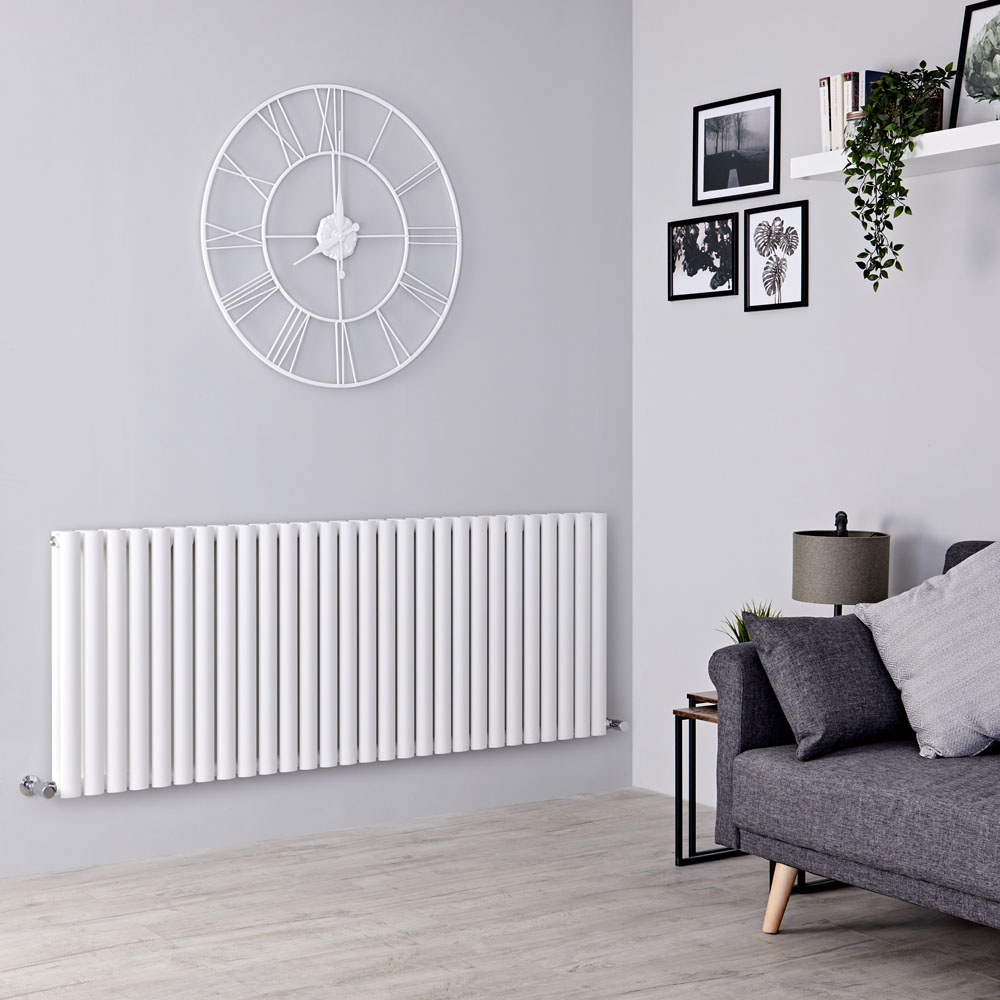 Milano Aruba - White Horizontal Designer Double Radiator 635mm x 1647mm