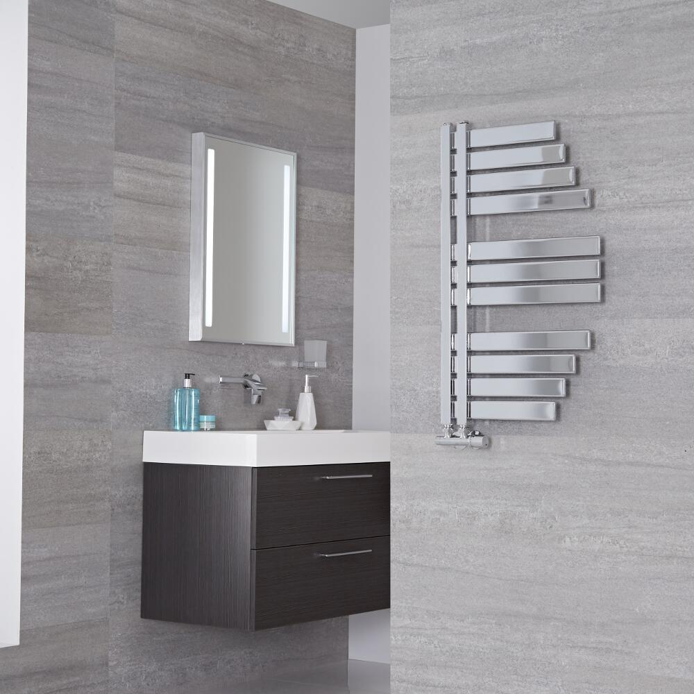 Lazzarini Way - Spinnaker - Chrome Designer Heated Towel Rail - 800mm x 463mm