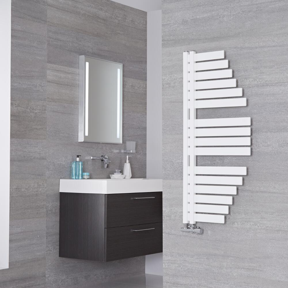 Lazzarini Way - Spinnaker - Mineral White Designer Heated Towel Rail - 1100mm x 483mm