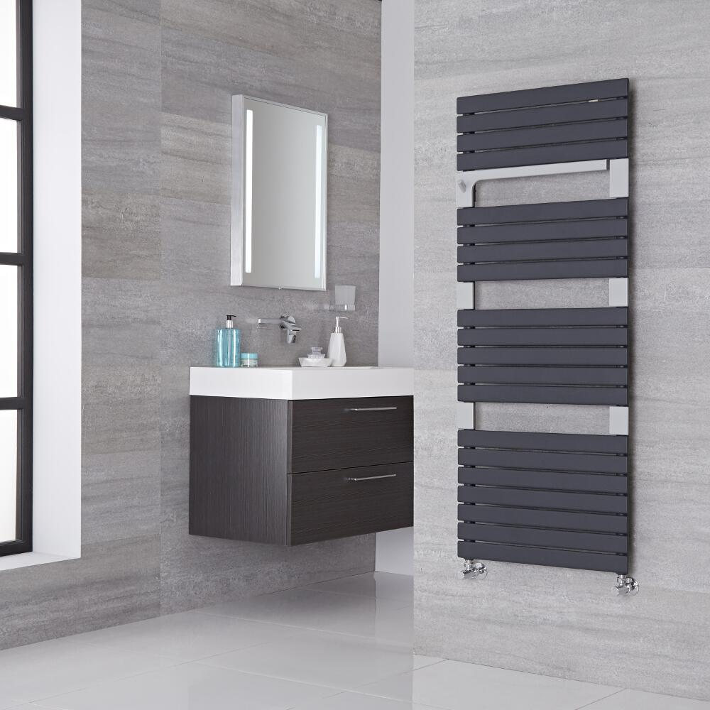 Lazzarini Way - Torino - Anthracite Designer Heated Towel Rail - 1360mm x 550mm