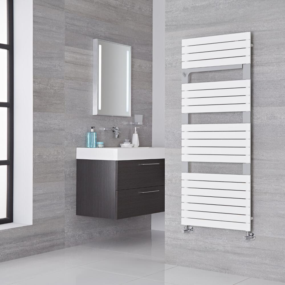 Lazzarini Way - Torino - Mineral White Designer Heated Towel Rail - 1360mm x 550mm