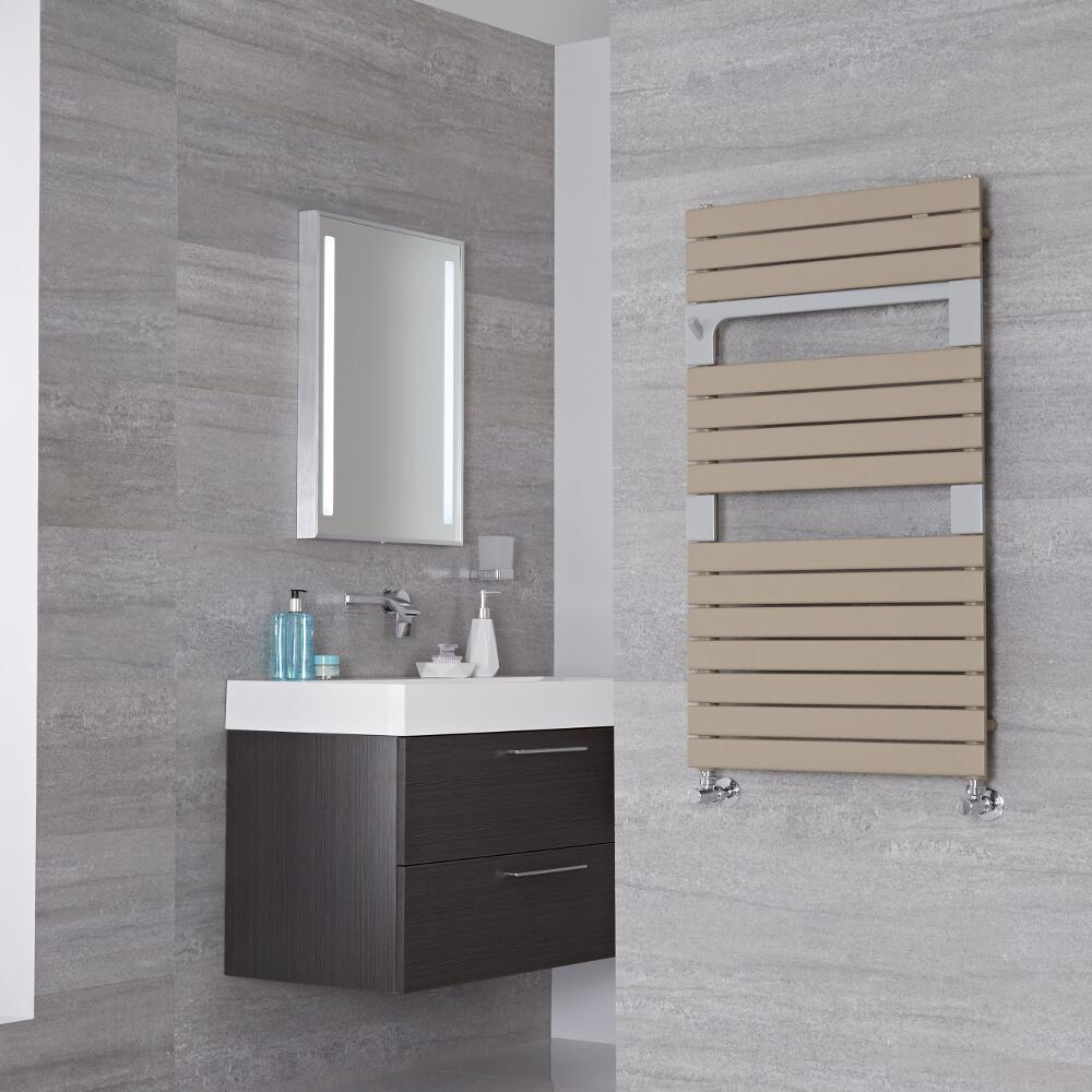 Lazzarini Way - Torino - Mineral Quartz Designer Heated Towel Rail - 952mm x 550mm