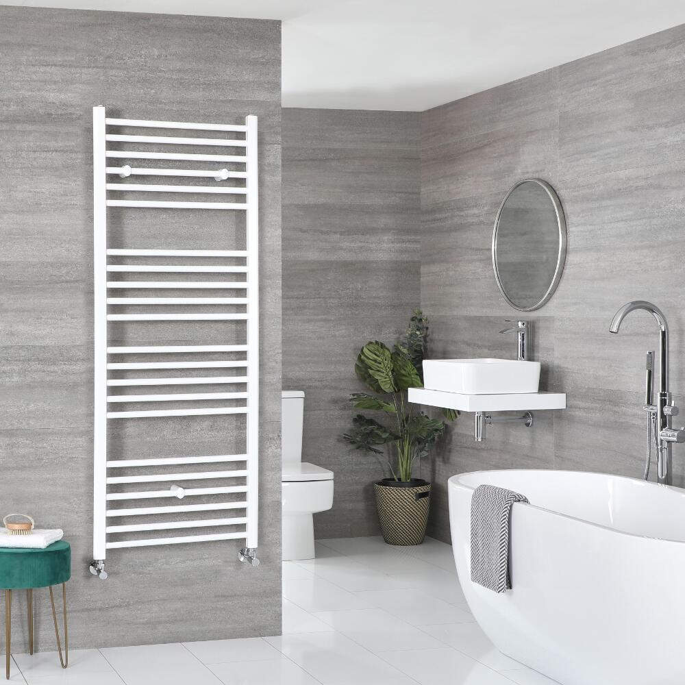 Milano Ive - Flat White Heated Towel Rail - Various Sizes