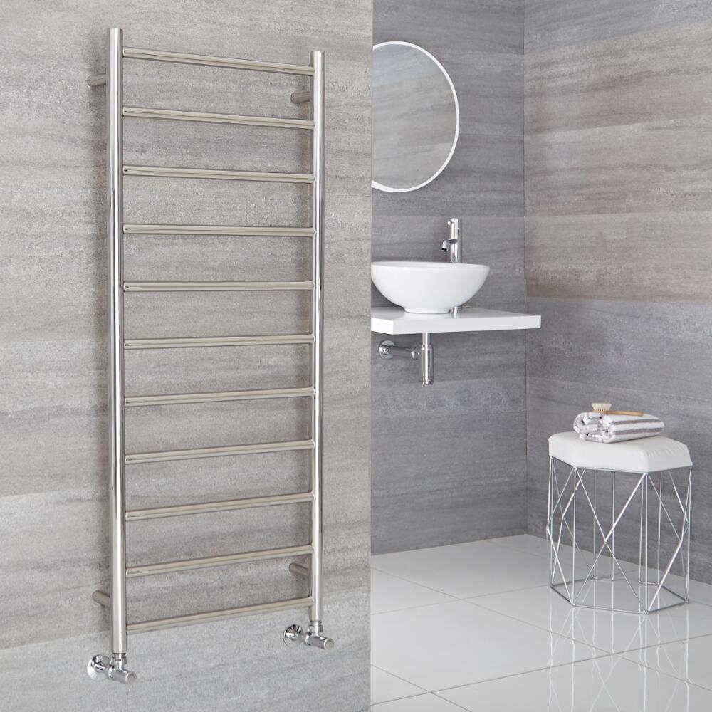 Milano Esk - Stainless Steel Flat Heated Towel Rail - 500mm x 1200mm