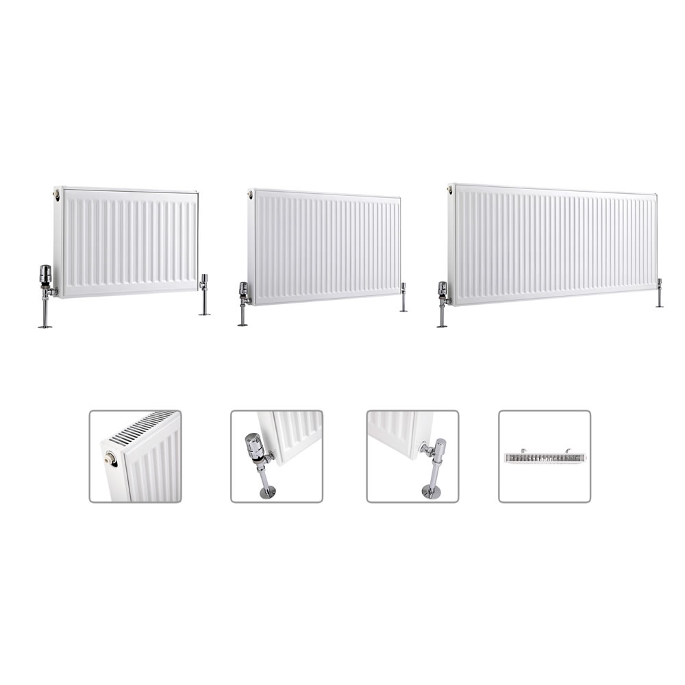 Milano Compact - Type 21 - Double Panel Plus Radiator - Multi Sizes Available