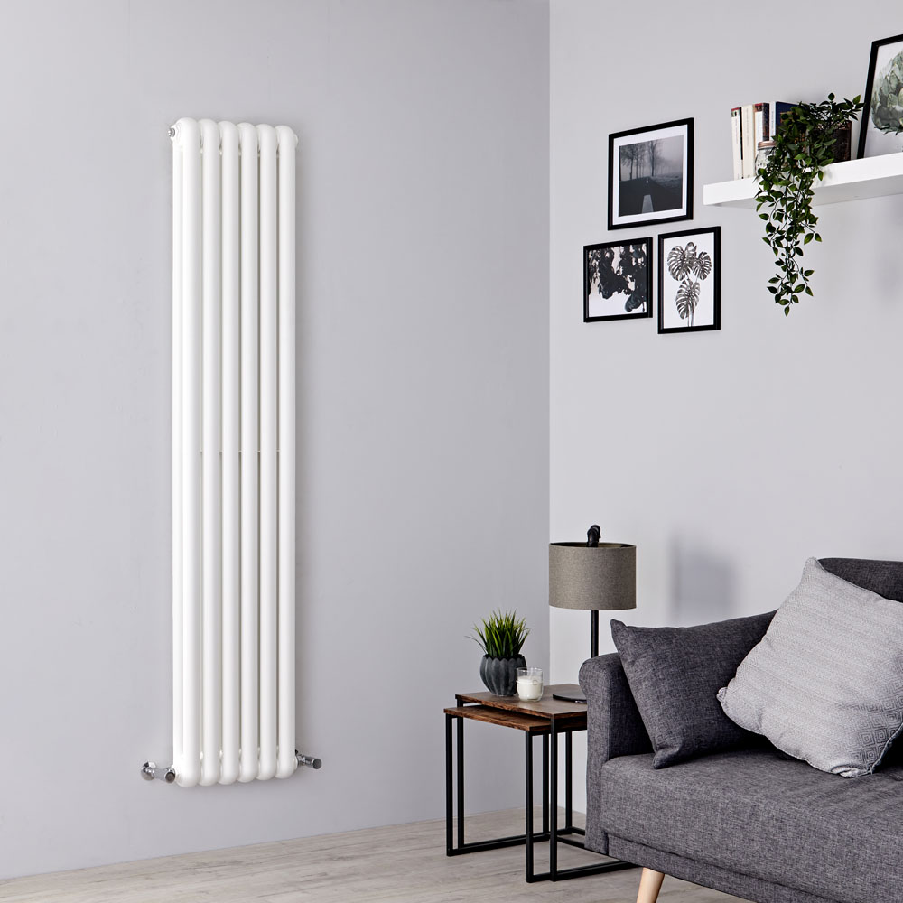 Milano Urban - White Vertical Double Column Radiator 1500mm x 383mm