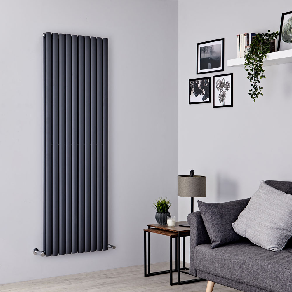 Milano Aruba - Anthracite Vertical Designer Radiator 1780mm x 590mm (Double Panel)