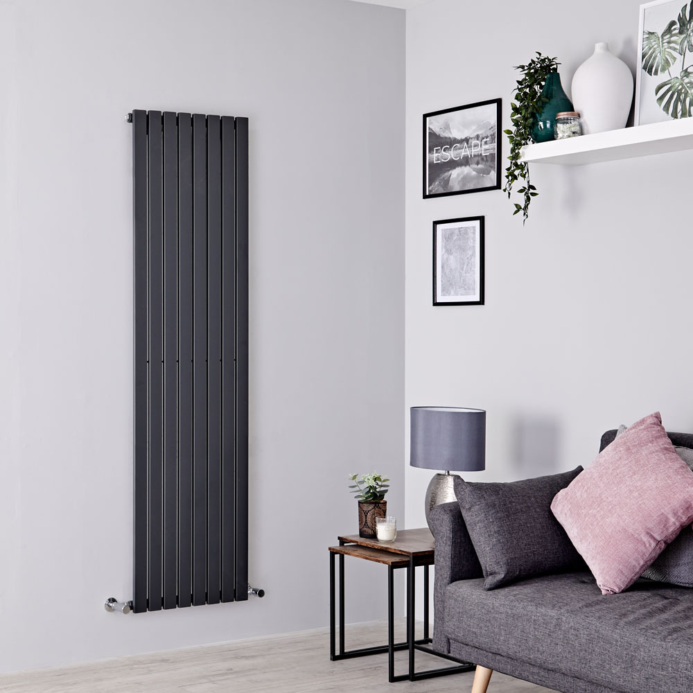 Milano Capri - Anthracite Vertical Flat Panel Designer Radiator 1780mm x 472mm