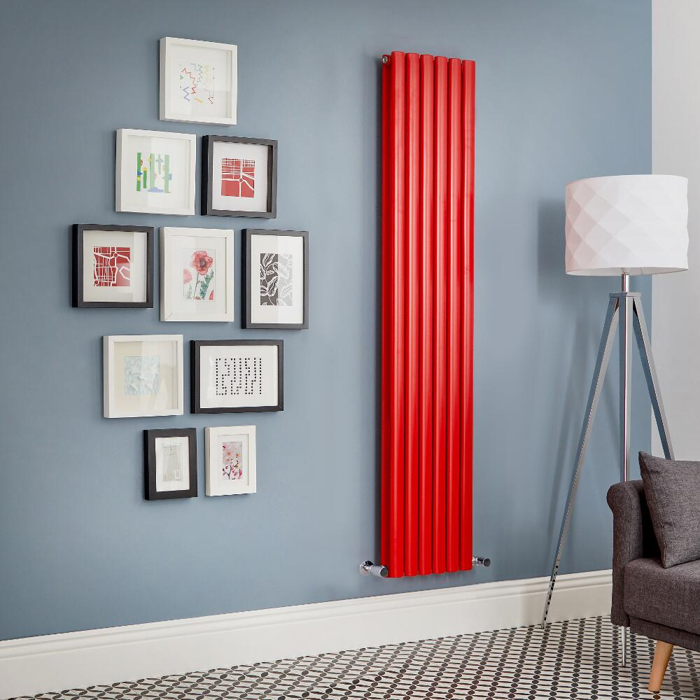 Milano Aruba - Red Vertical Double Panel Designer Radiator - Various Sizes