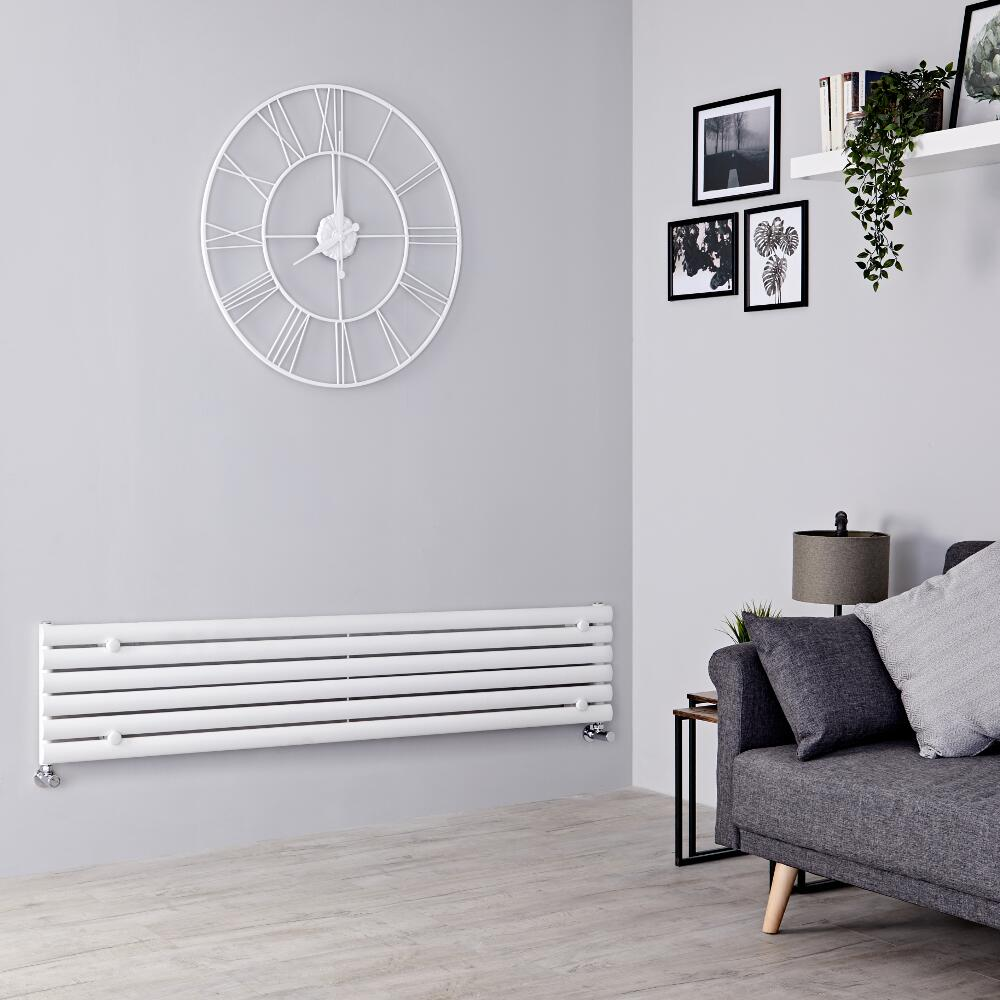 Milano Aruba - White Horizontal Designer Radiator 354mm x 1780mm