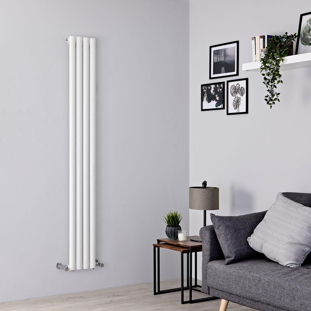 Milano Aruba Slim - White Space-Saving Vertical Designer Radiator 1780mm x 236mm