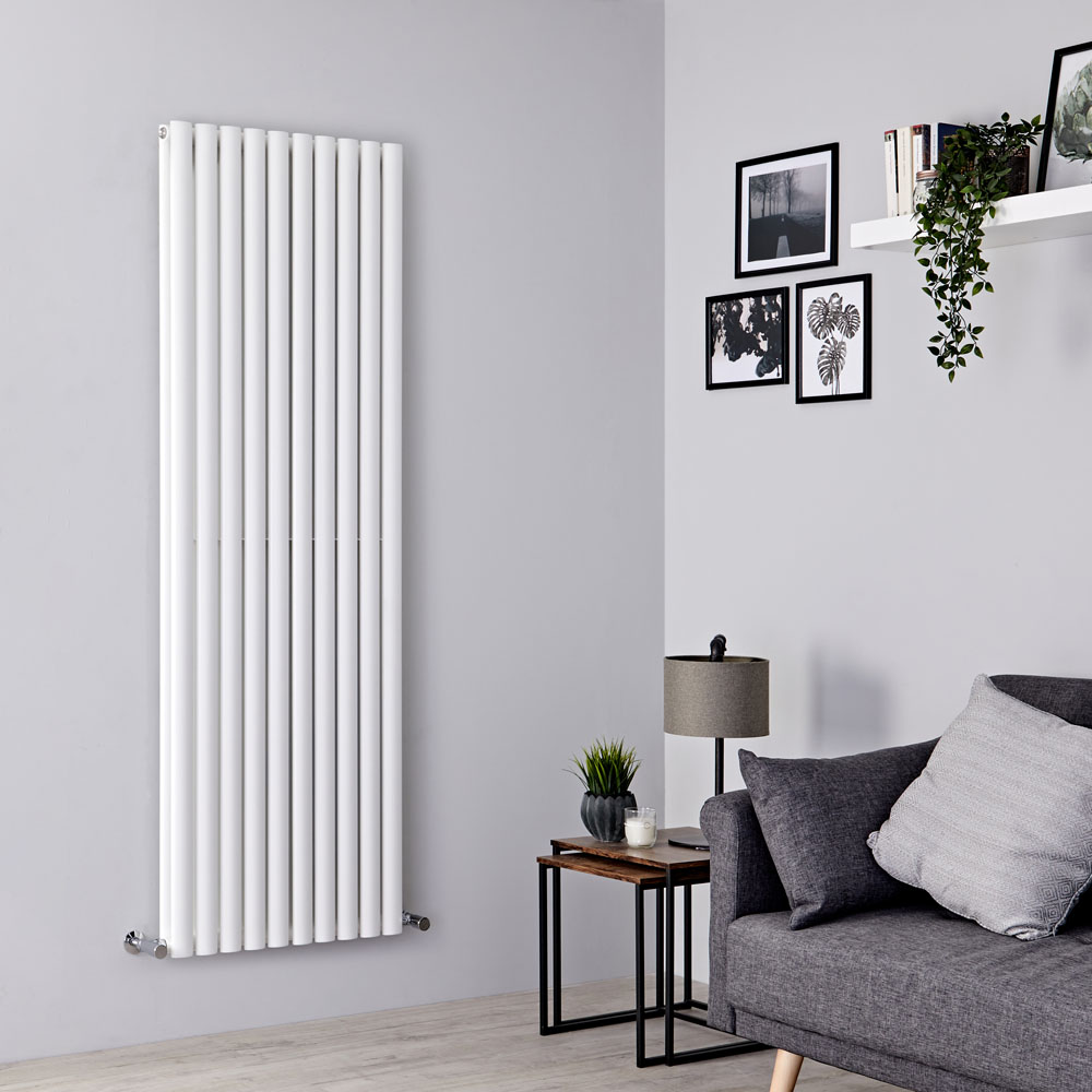 Milano Aruba - White Vertical Designer Radiator 1780mm x 590mm (Double Panel)
