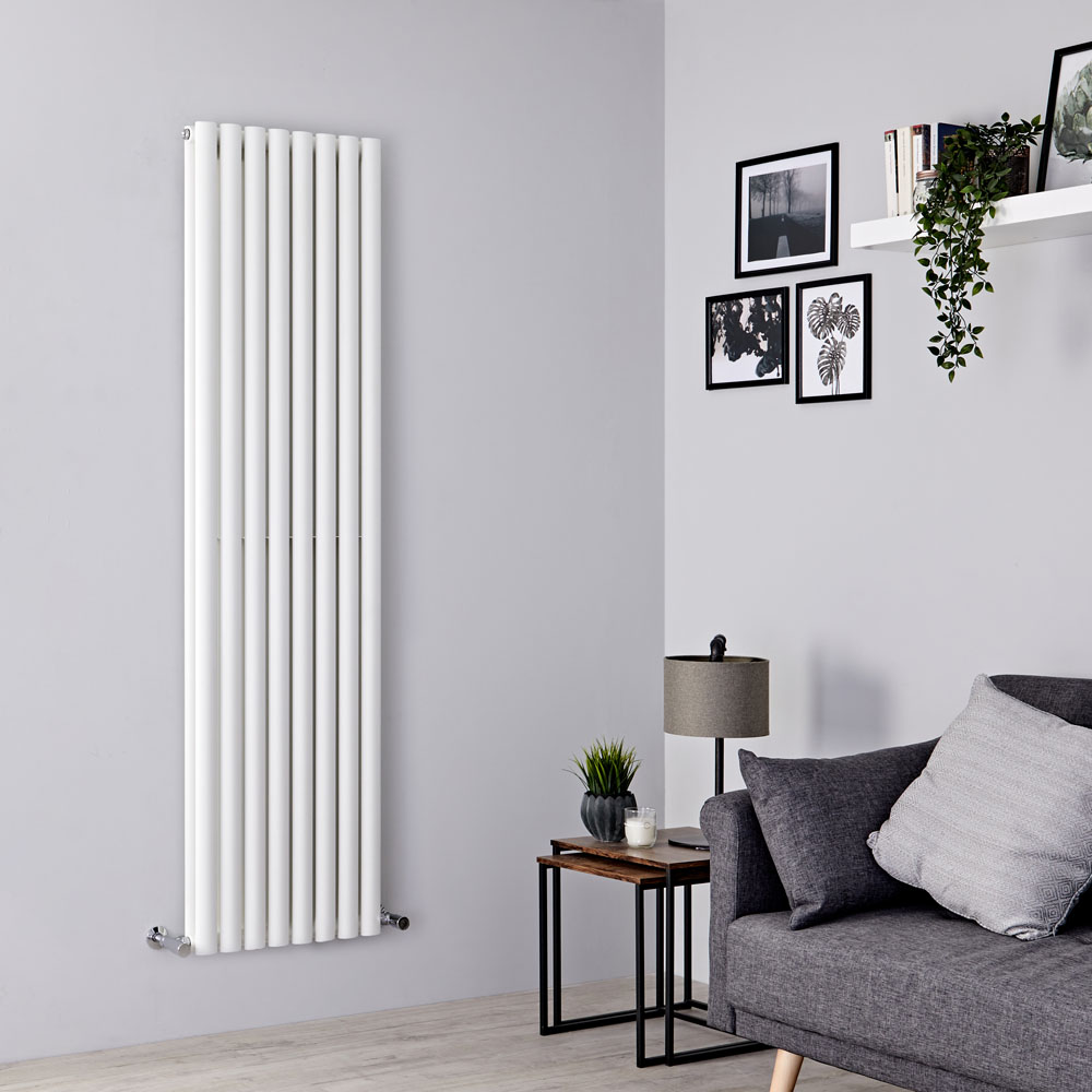 Milano Aruba - White Designer-Style Vertical Radiator 1780mm x 472mm (Double Panel)