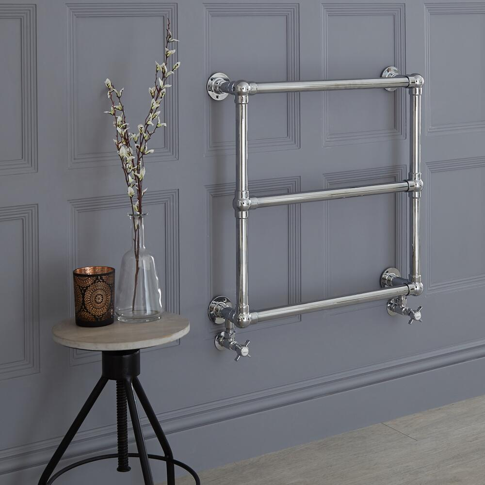 Milano Derwent - Minimalist Traditional Heated Towel Rail 685mm x 685mm