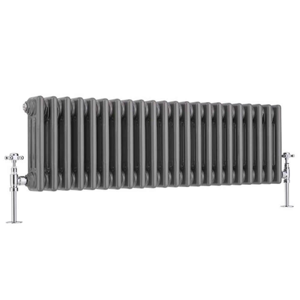 Best Heating Milano Windsor - Traditional Horizontal 3 Column Radiator - Raw Metal Lacquered - 300mm x 1013mm