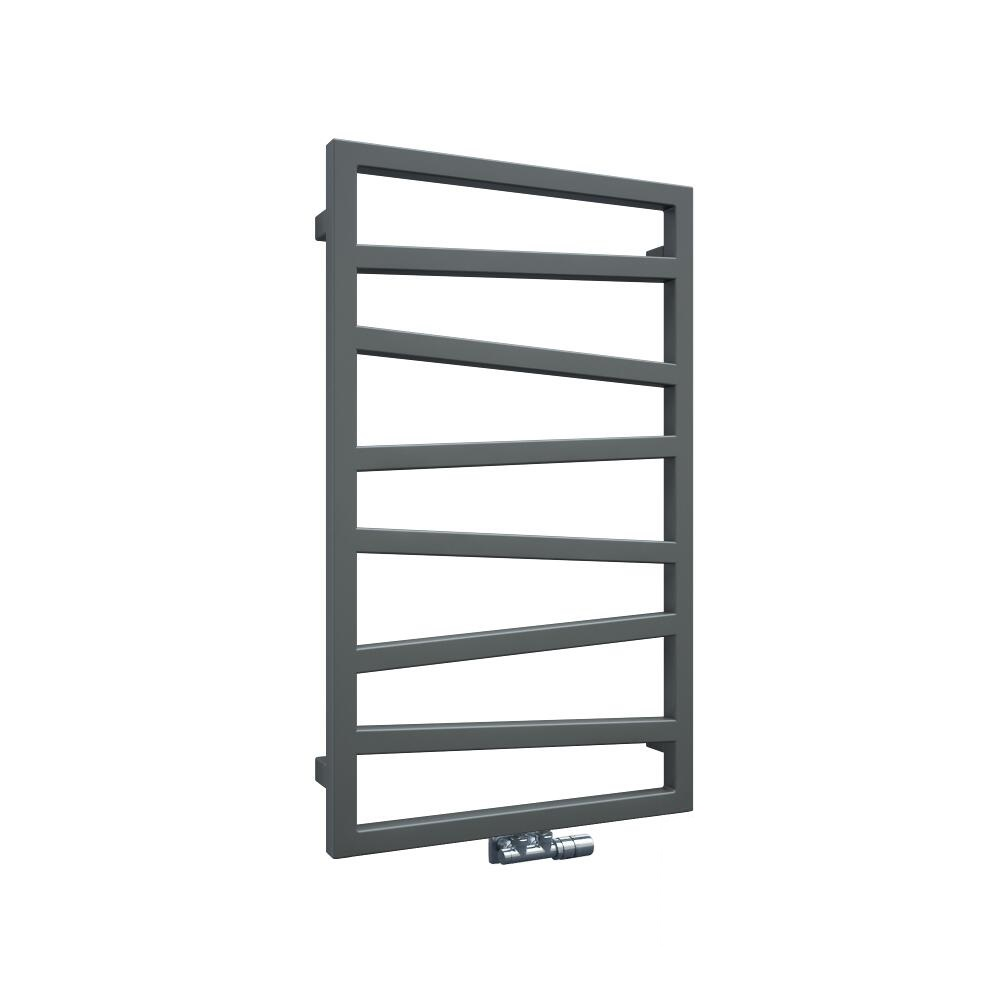 Terma ZigZag - Silver Vertical Heated Towel Rail 835mm x 500mm