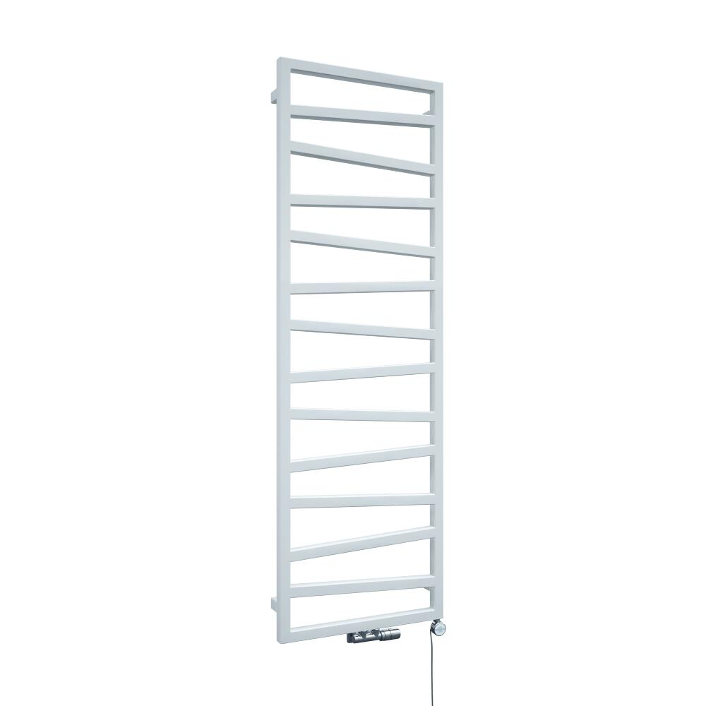 Terma ZigZag - White Vertical Heated Towel Rail 1545mm x 500mm