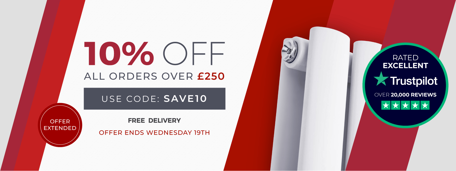 10% Off All Orders Over £250 Use Code: SAVE10  Shop Now  Free Delivery  Offer Extended To Wednesday 19th June
