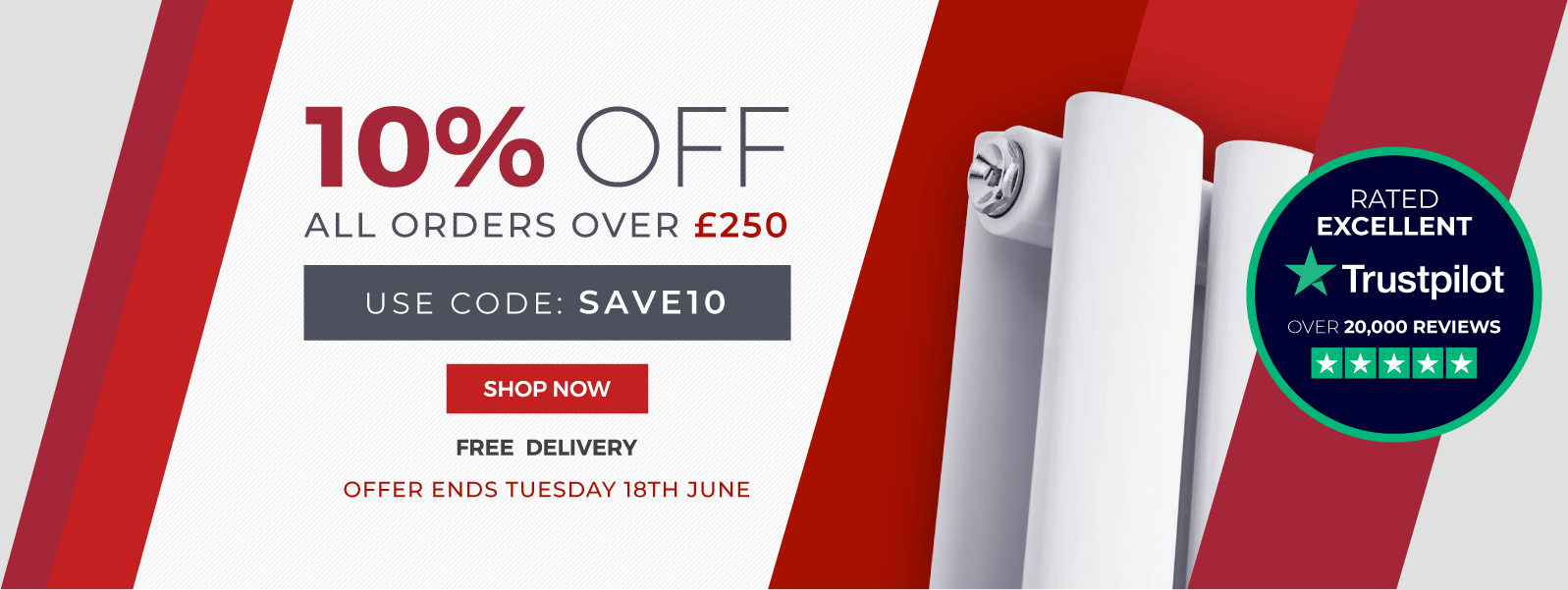 10% Off All Orders Over £250 Use Code: SAVE10  Shop Now  Free Delivery  Offer Ends Tuesday 18th June
