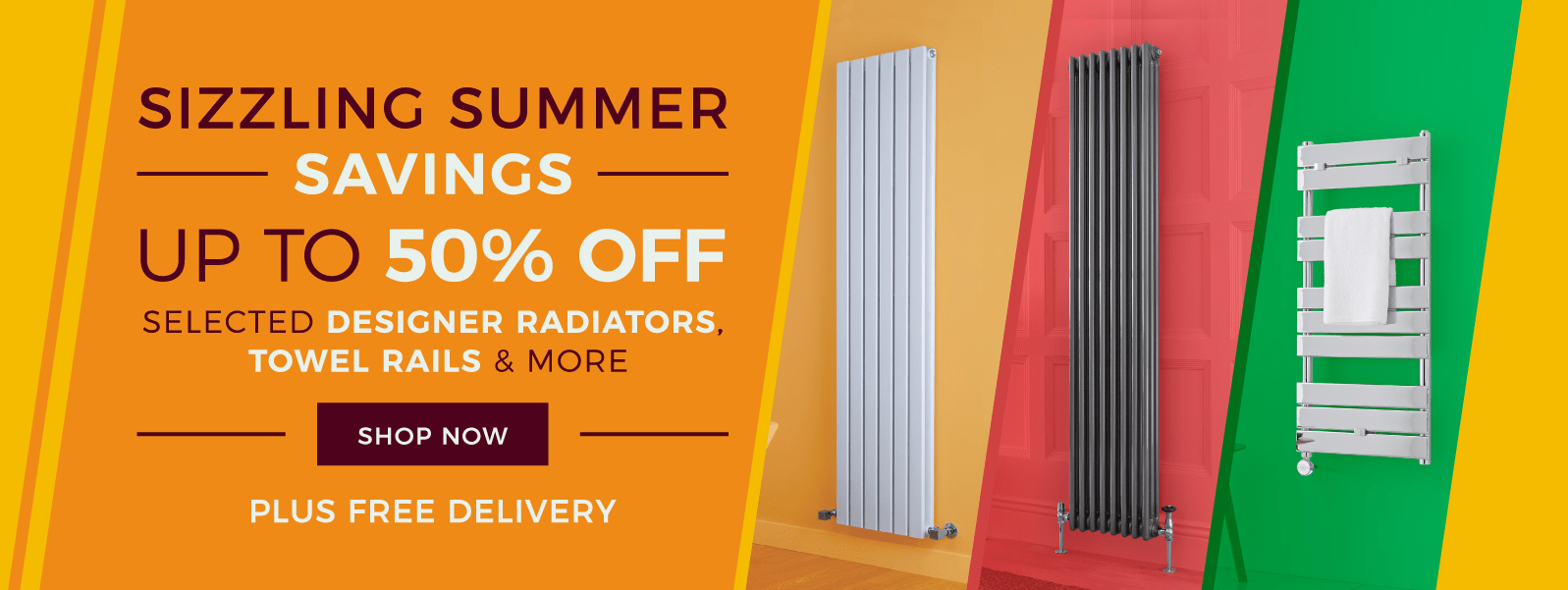 Up To 50% Off Selected Designer Radiators, Towel Rails & More - Plus Free Delivery