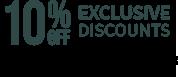 Exclusive discounts