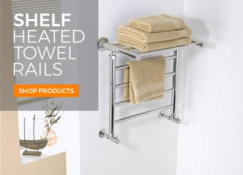 shelf heated towel rails