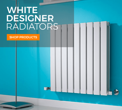 white designer radiators