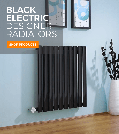 black electric designer radiators