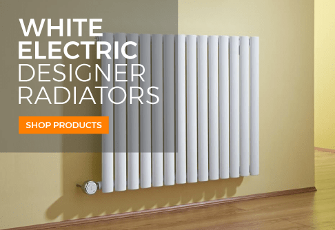 white electric designer radiators