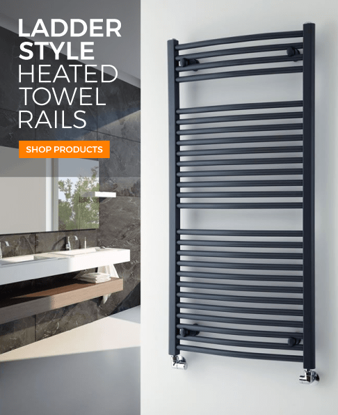 ladder style heated towel rail