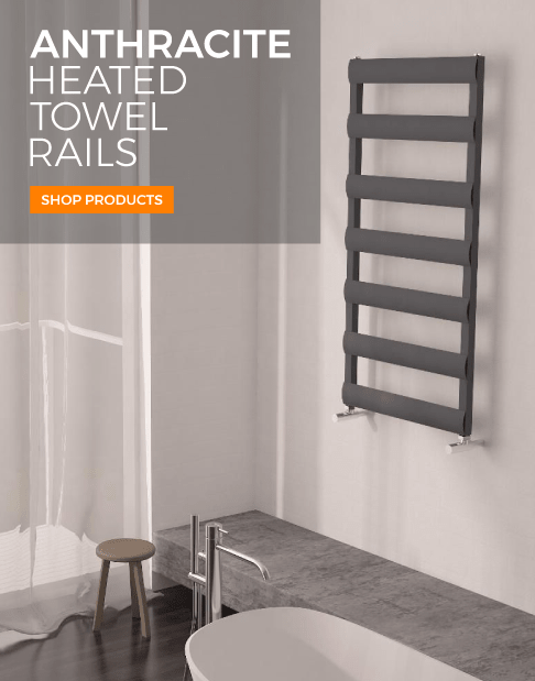 anthracite heated towel rails