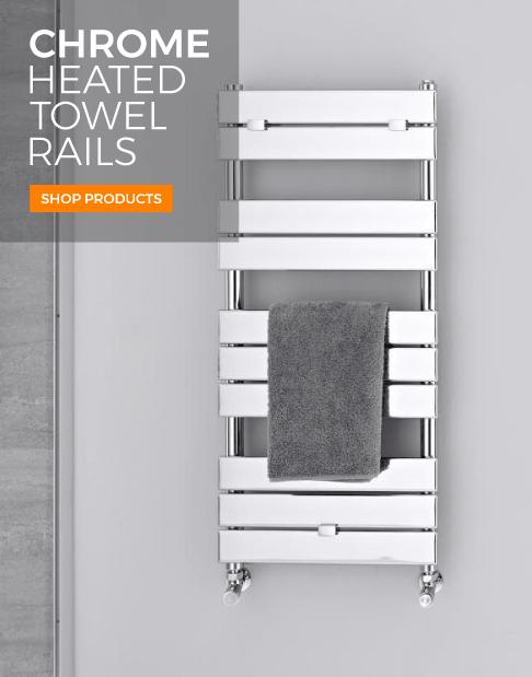 chrome heated towel rails