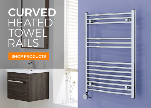 curved heated towel rails