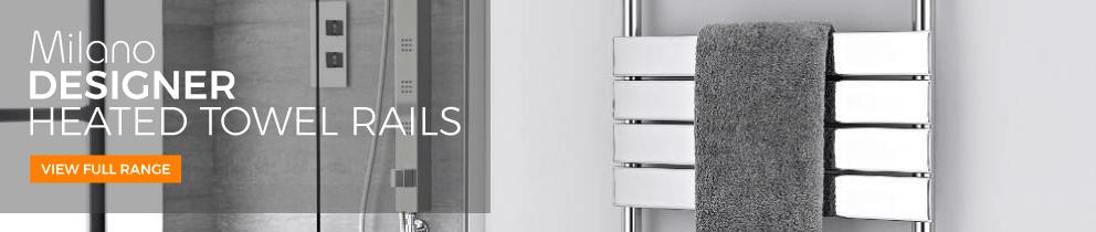 milano designer heated towel rails